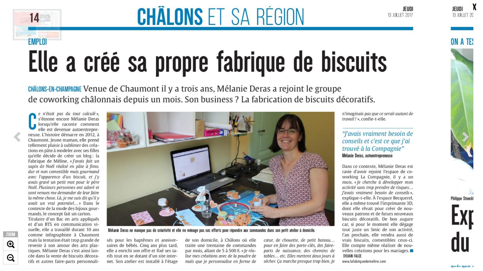 """Un journaliste est passé me voir dans ma """"fabrique de biscuits décoratifs"""" :) Je vous raconte ?"""