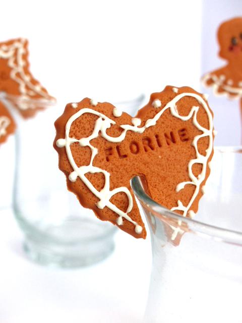 marque-place noël biscuit glacé personnalisé