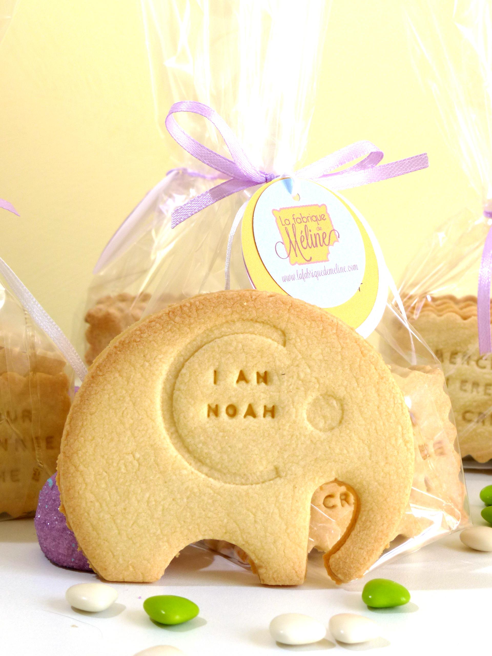 biscuit sablé personnalisé éléphant